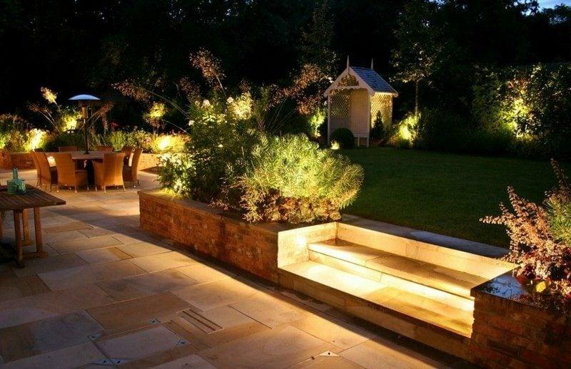 LED Gartenbeleuchtung Treppe Ideen und Inspirationen