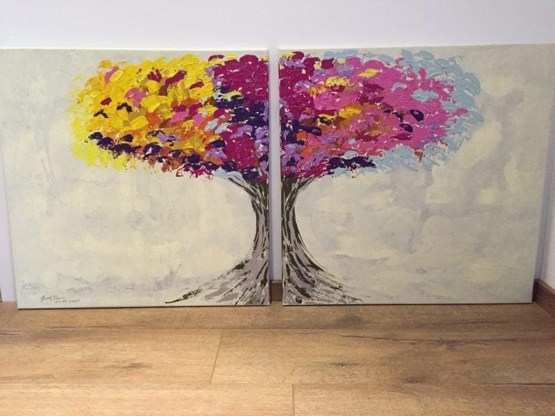 Bilder selber malen Baum