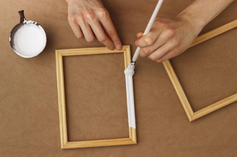 bilderrahmen selber bauen materialien