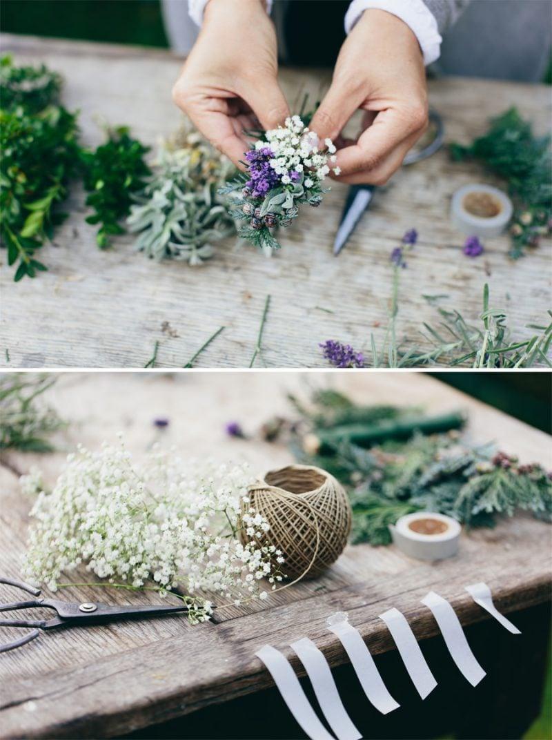 Blumengestecke DIY Schritten