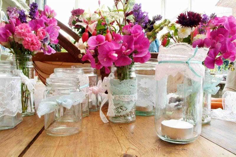 Tischdeko Blumen Modern Wohn Design