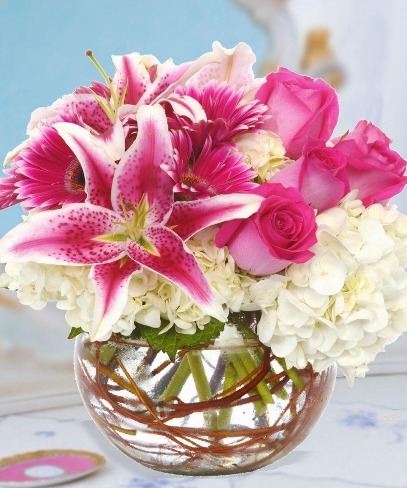 Blumengestecke Rose Weiss