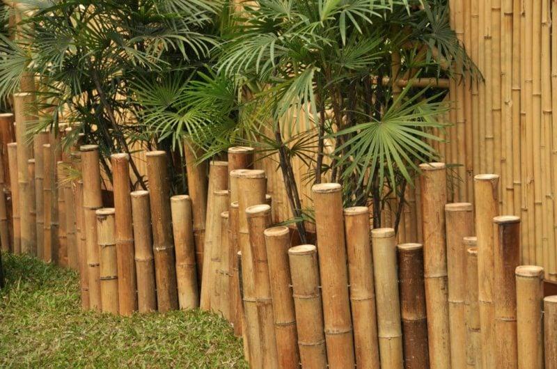 Bambuszaun Dekorierung des Gartens