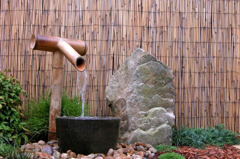 kreative Gartengestaltung Bambuszaun