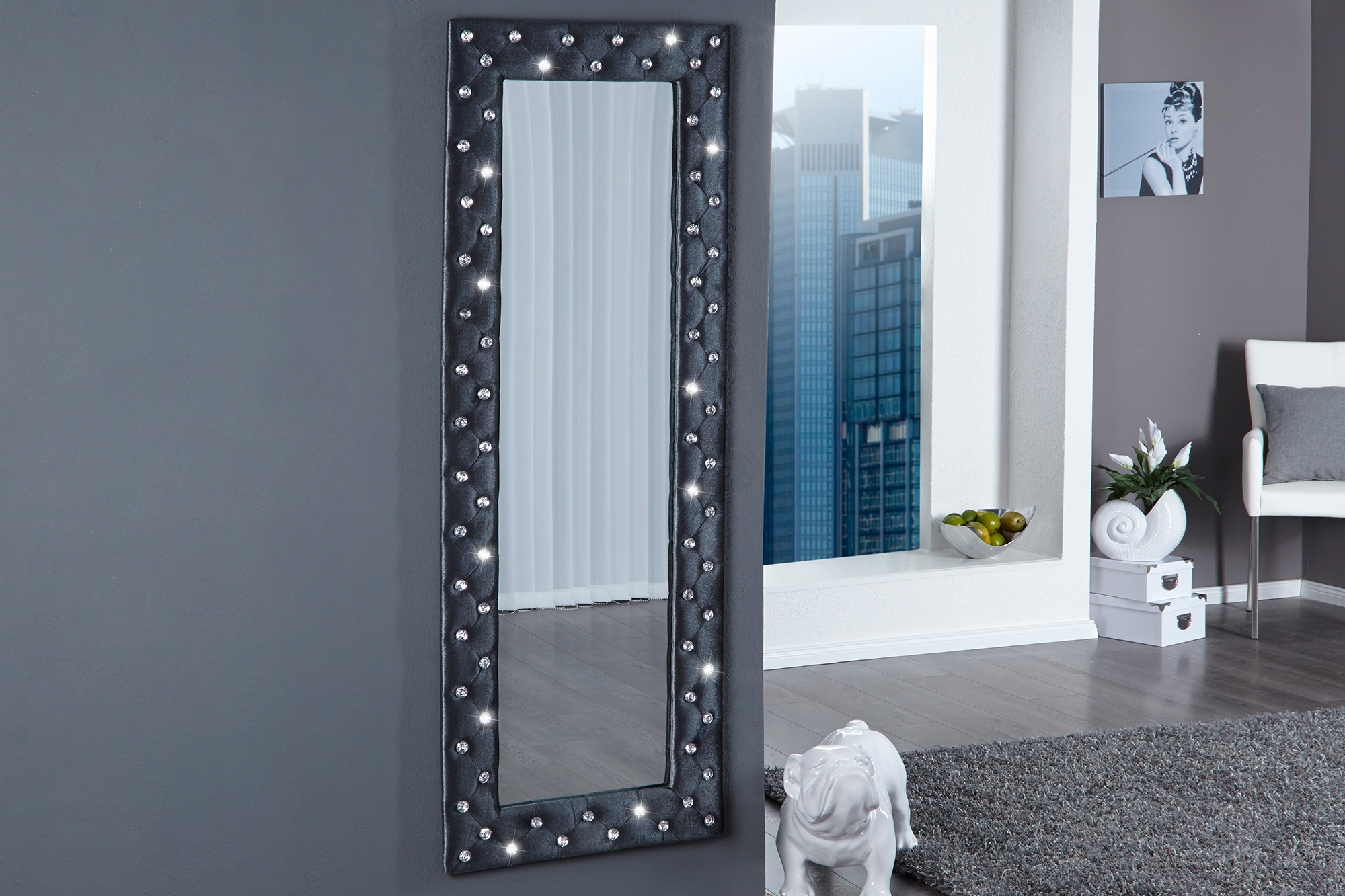 schwarze designer spiegel