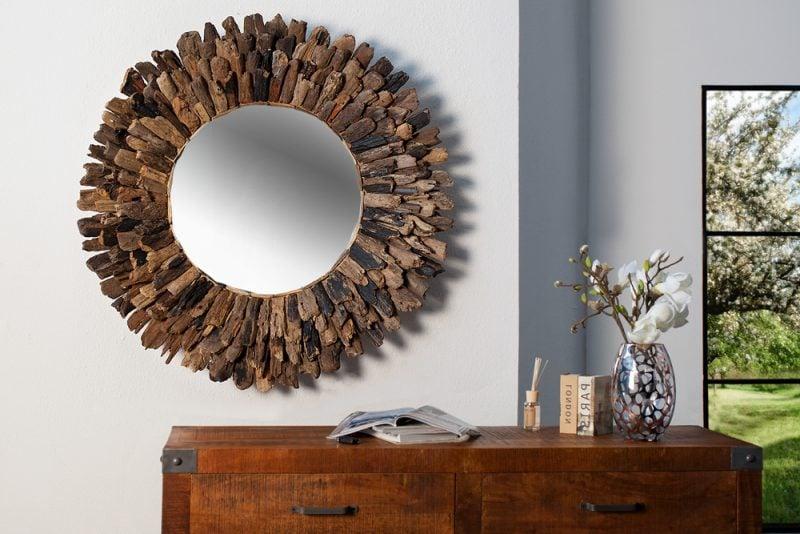wandspiegel design groß kombination uhr TITANIUM Riccardo Lucatello