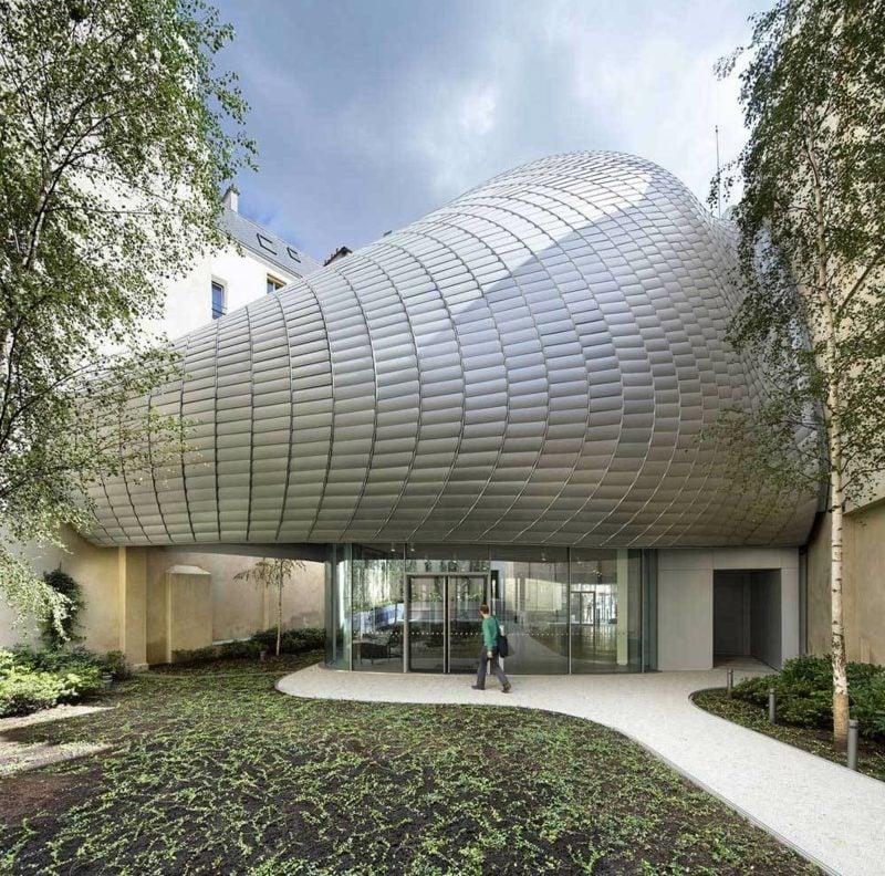 organische Architektur Beispiele die Stiftung Jerome Seydoux Pathe Paris