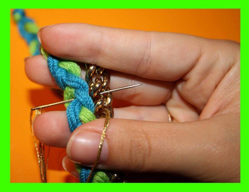 DIY Armband aus Wolle
