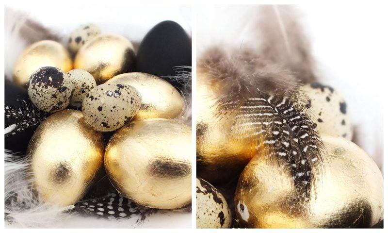 eier färben golden