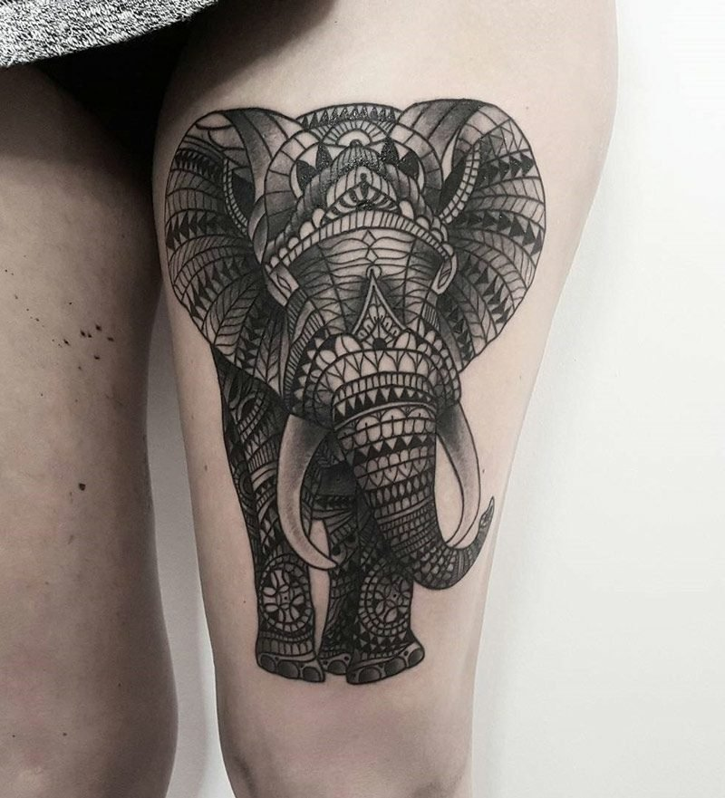 elefanten tattoo Ornamental Elephant