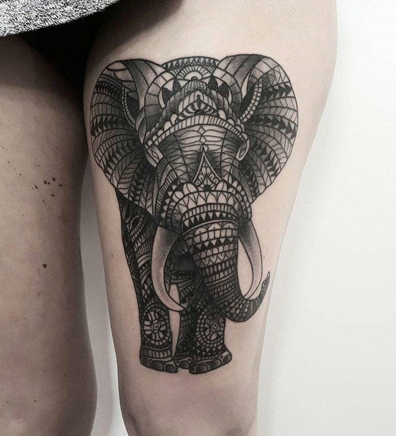 elefanten tattoo Ornamental Elephant