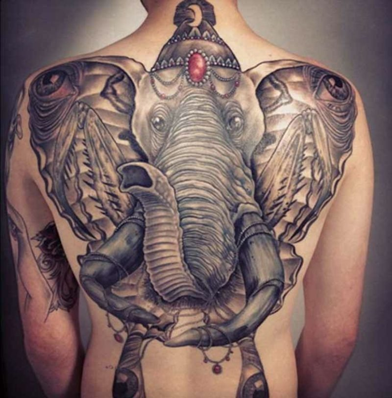 elefanten tattoo asian oriental tattoo hindu