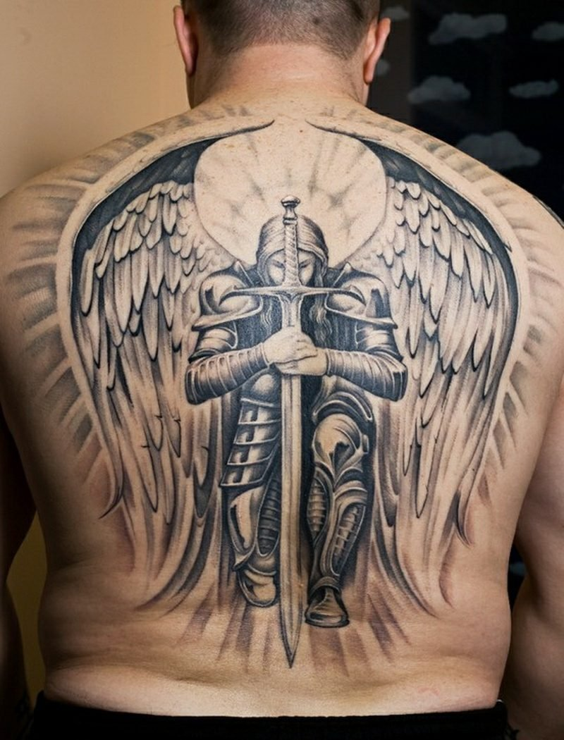 engel tattoo Angel And Sword
