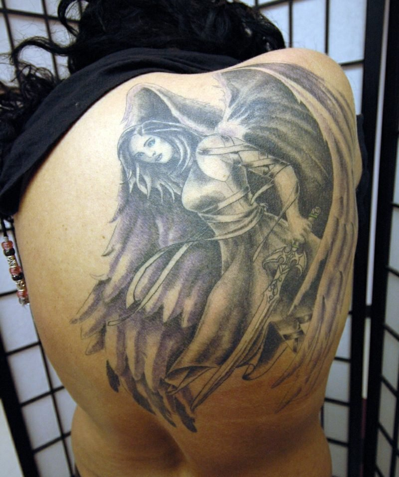 engel tattoo Guardian Angel Tattoo