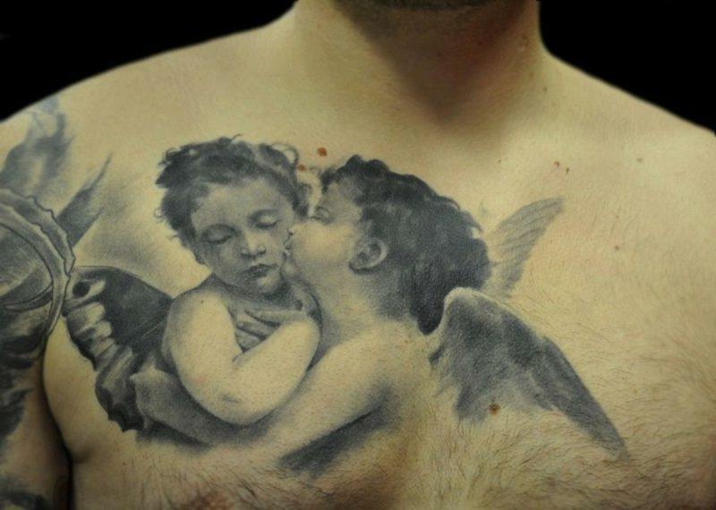 engel tattoo Kissing Angel
