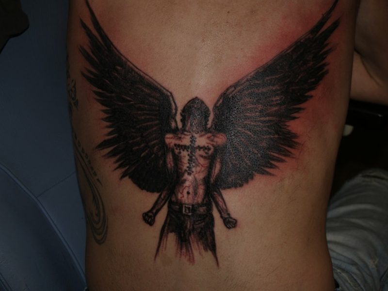 engel tattoo Lowerback