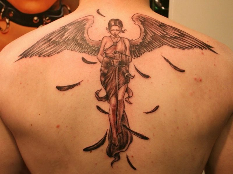 engel tattoo symbole tattoos zenideen. Black Bedroom Furniture Sets. Home Design Ideas