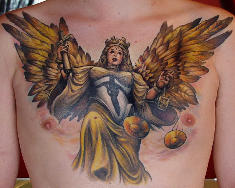 engel tattoo justice