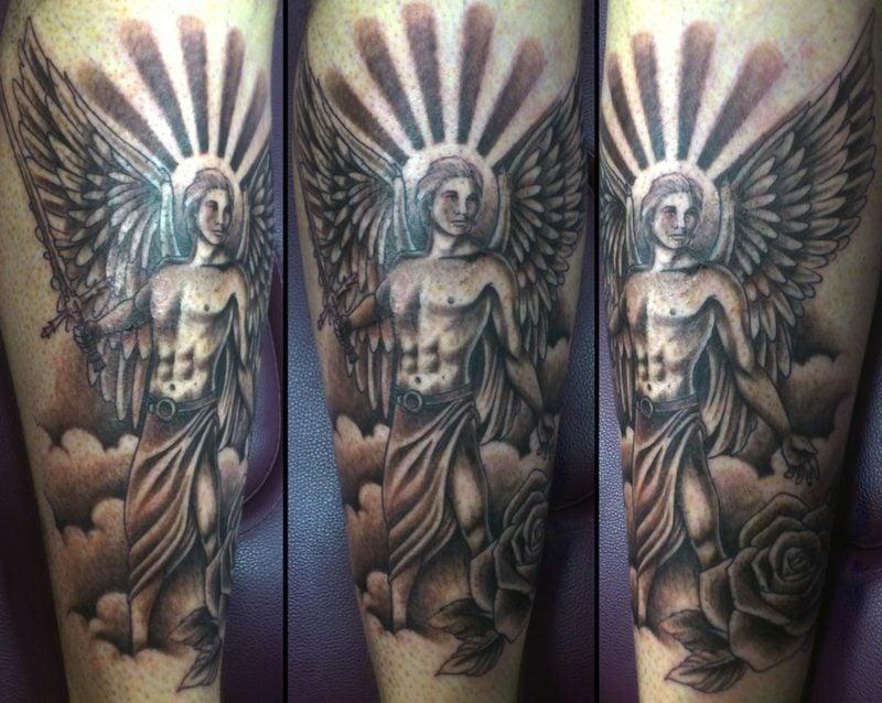 engel tattoo male angel tattoo