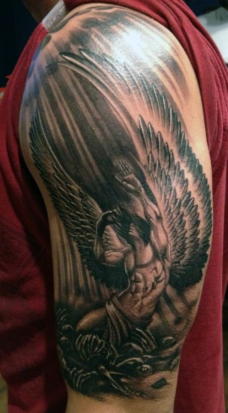 engel tattoo small guardian
