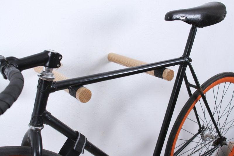 Fahrradhalterung für Wand aus Holz