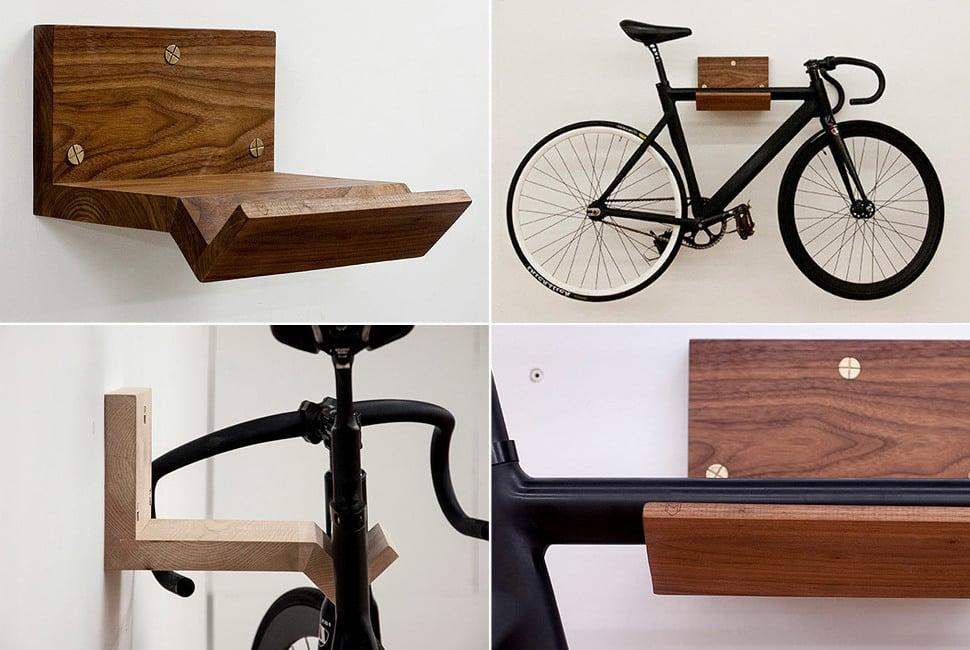 26 kreative ideen f r fahrradhalterung f r wand - Fahrradhalterung wand holz ...