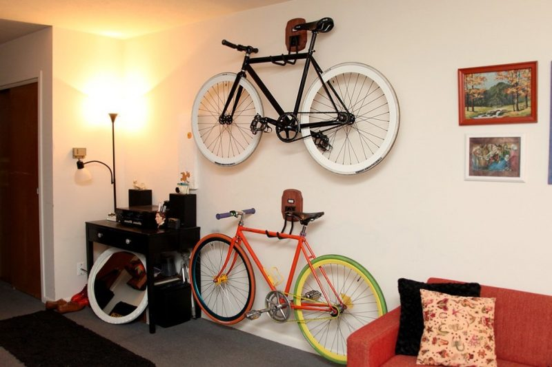 Fahrradhalterung für Wand DIY Idee