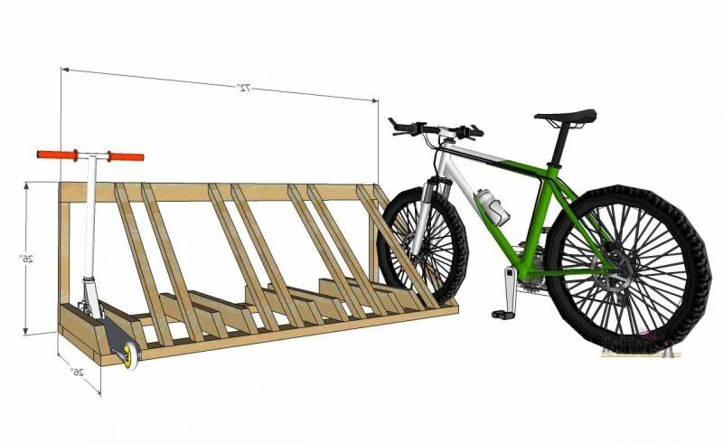 Fahrradhalterung für Wand Projekt aus Paletten