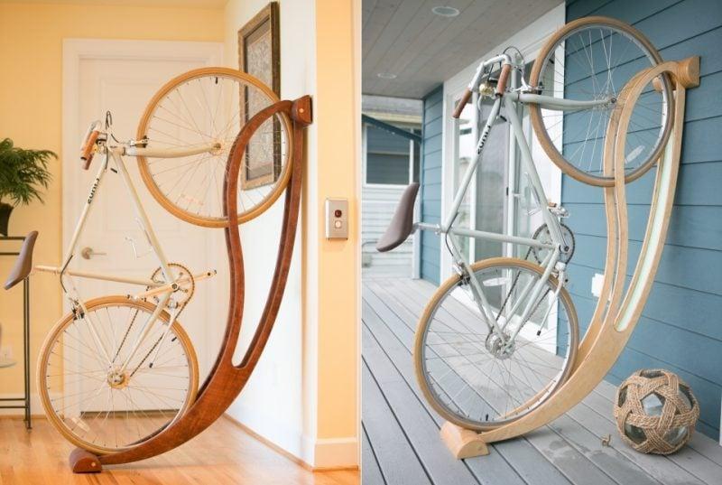 fahrrad halterung wand fahrradhalterung f r wand selber bauen 30 ideen anleitung. Black Bedroom Furniture Sets. Home Design Ideas
