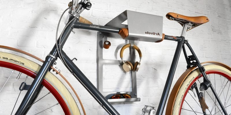 Fahrradhalterung für Wand aus Metall