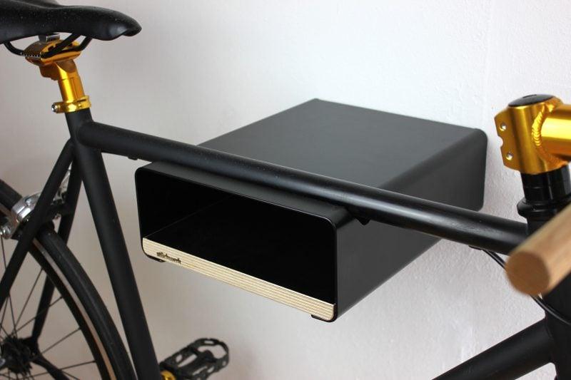 Fahrradhalterung für Wand schwarz