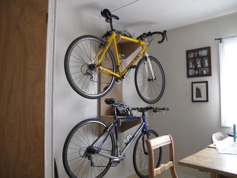 Fahrradhalterung für Wand für zwei Fahrräder