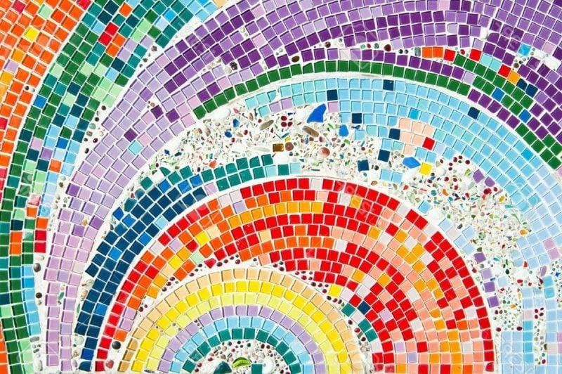 Mosaik farbenfroh Mosaik selber basteln