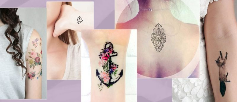 filigrane tattoos bunt