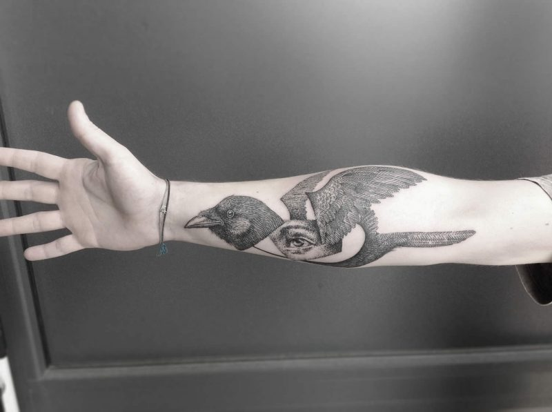filigrane tattoos modern