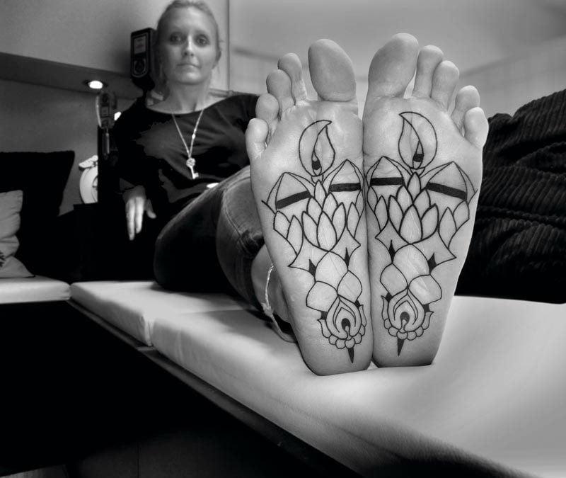 filigrane tattoos schwarz