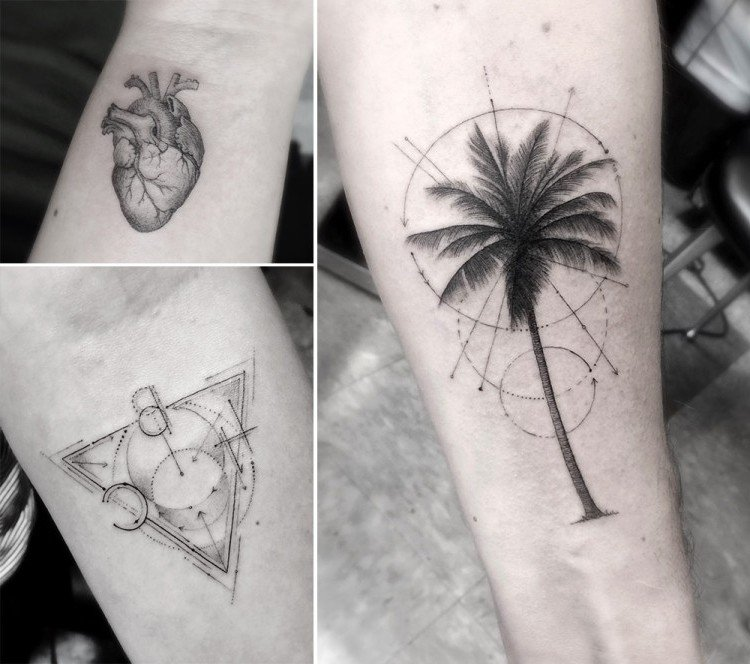 filigrane tattoos kreativ