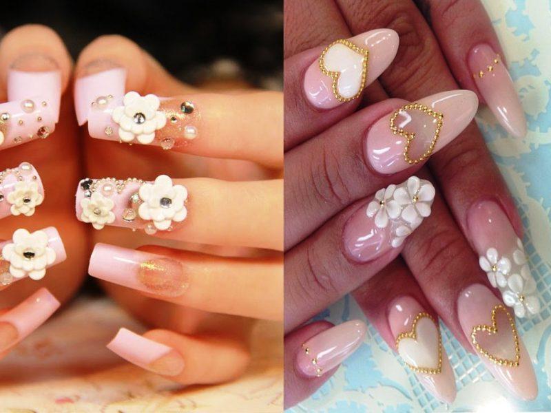 Fingernagel Design 3D Blumen