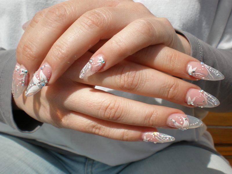 Fingernagel Design Hochzeit Design