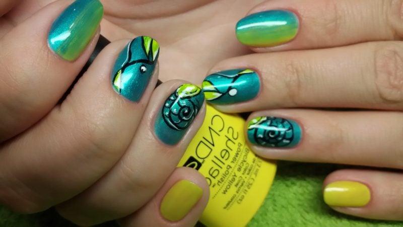 Fingernagel Design Grün