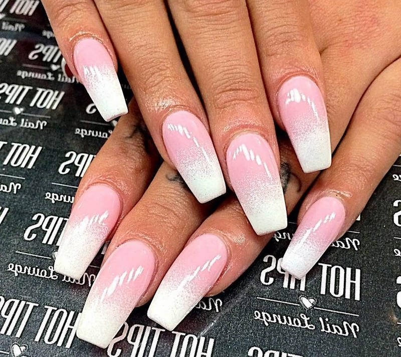 Fingernagel Design Ombre