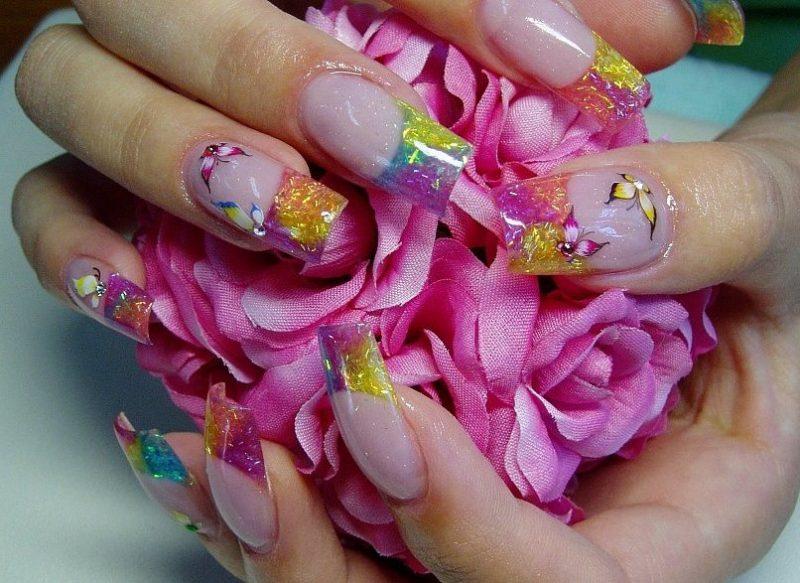Fingernagel Design Schmetterlinge