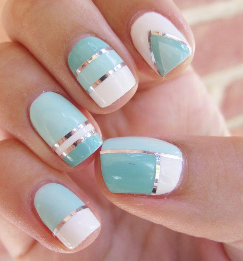 Fingernagel Design zwei Farben