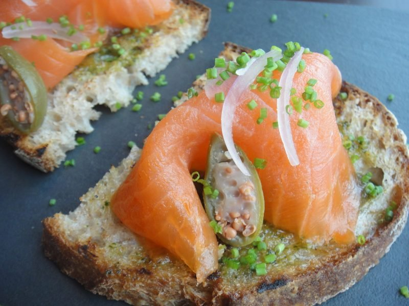 fingerfood kalt salmon
