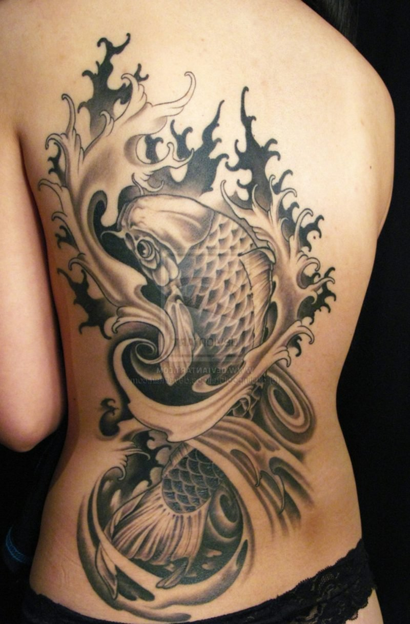 fisch tattoo symbolik und herkunft tattoos zenideen. Black Bedroom Furniture Sets. Home Design Ideas
