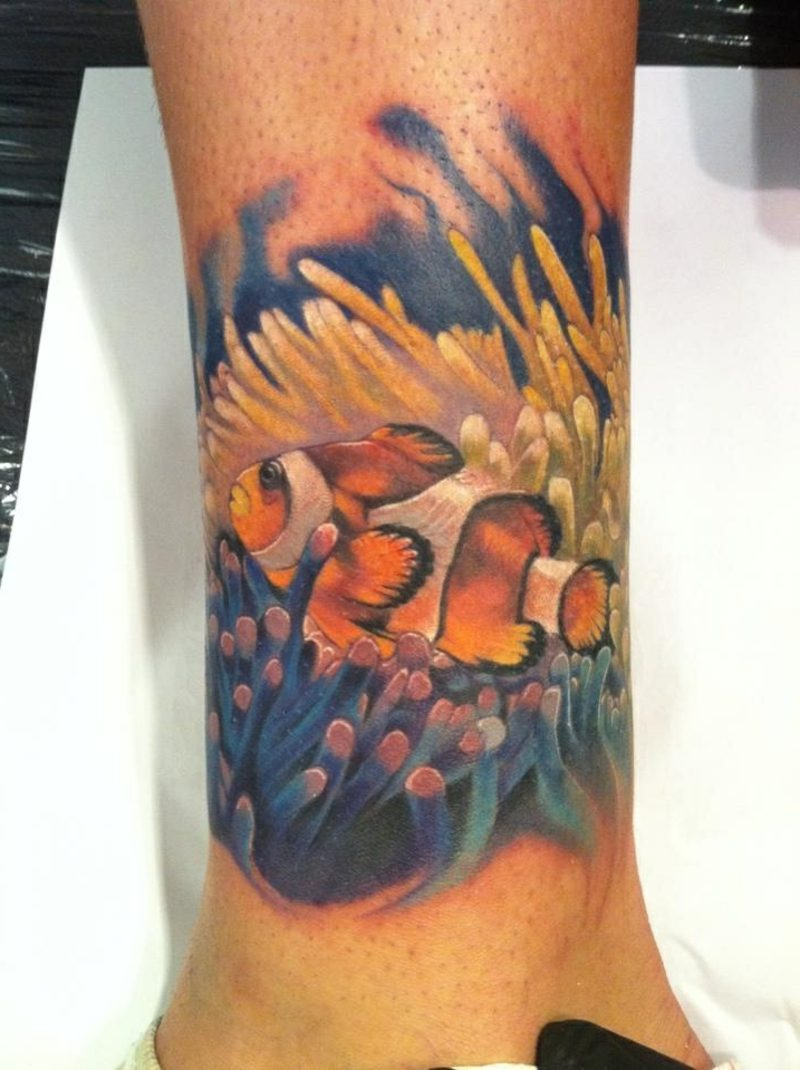 fisch tattoo Clown