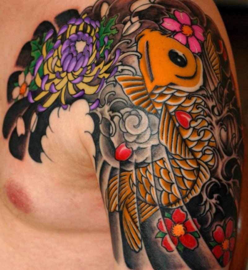 fisch tattoo Colored Koi fish Tattoo