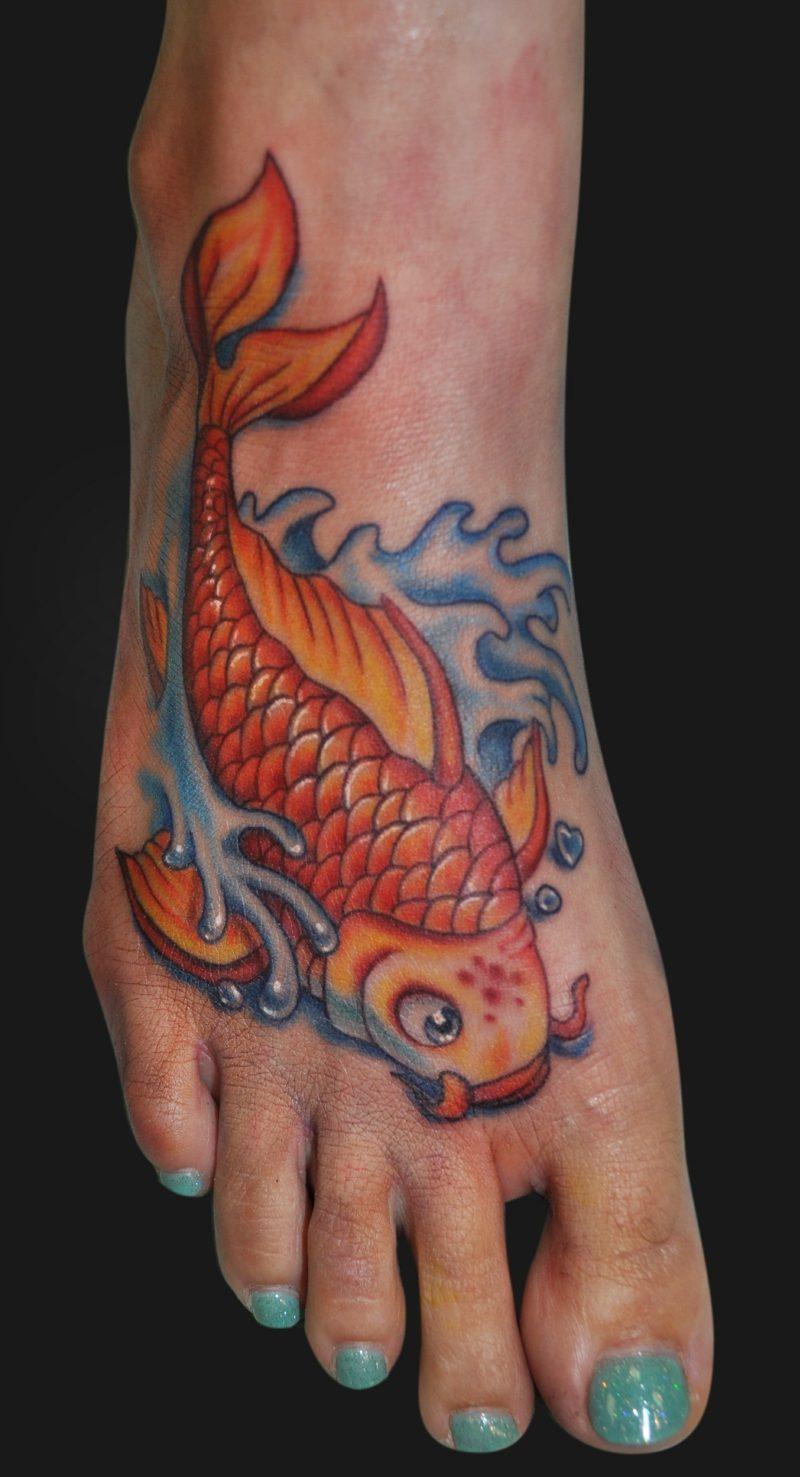 fisch tattoo Art For Leg