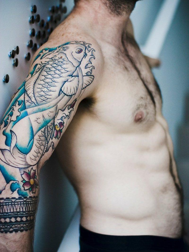 fisch tattoo koi