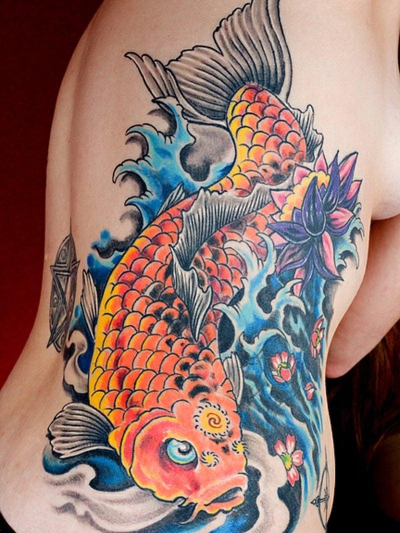 Мужские татуировки рыб фото